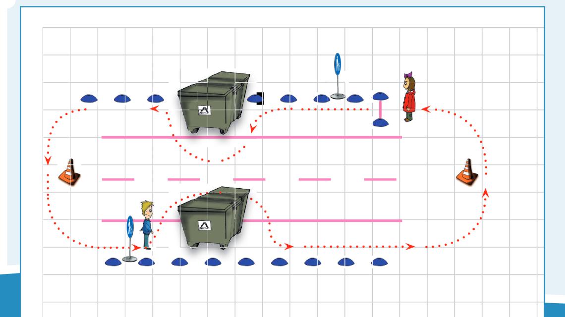 Afbeelding lespakket Verkeerskunsten gr. 1 en 2 - Lopen en oversteken les 1