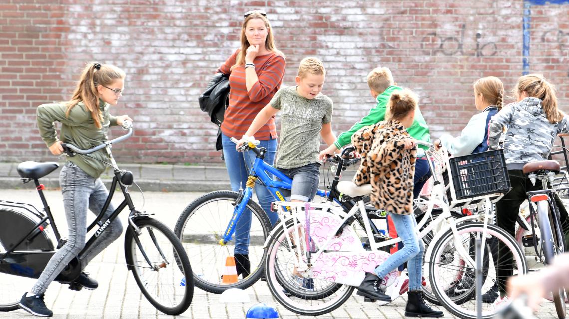 Afbeelding lespakket Verkeerskunsten groep 1 en 2 - fietskunsten
