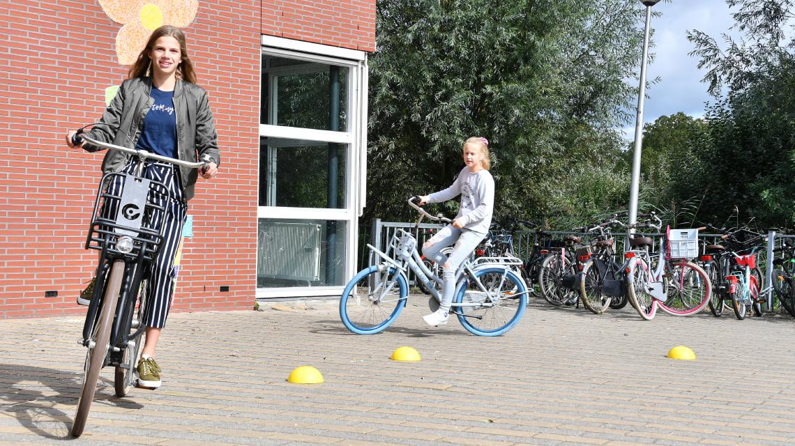 Afbeelding lespakket Verkeerskunsten groep 7 en 8 - fietskunsten les 1