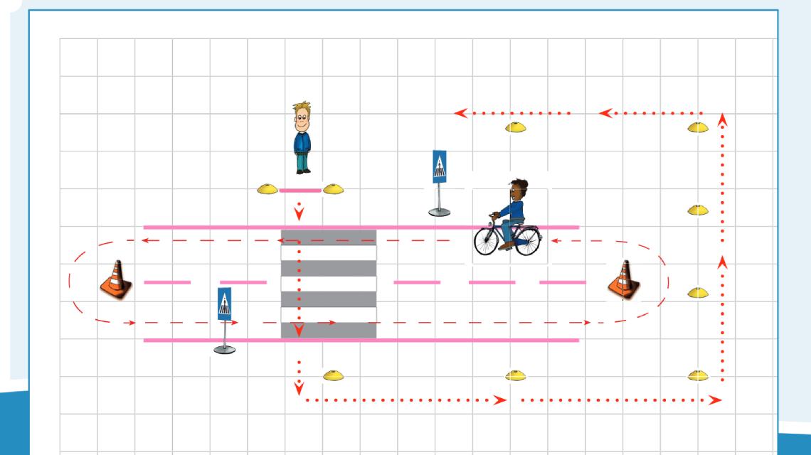 Afbeelding Verkeerskunsten gr. 1 en 2 - Lopen en oversteken les 2
